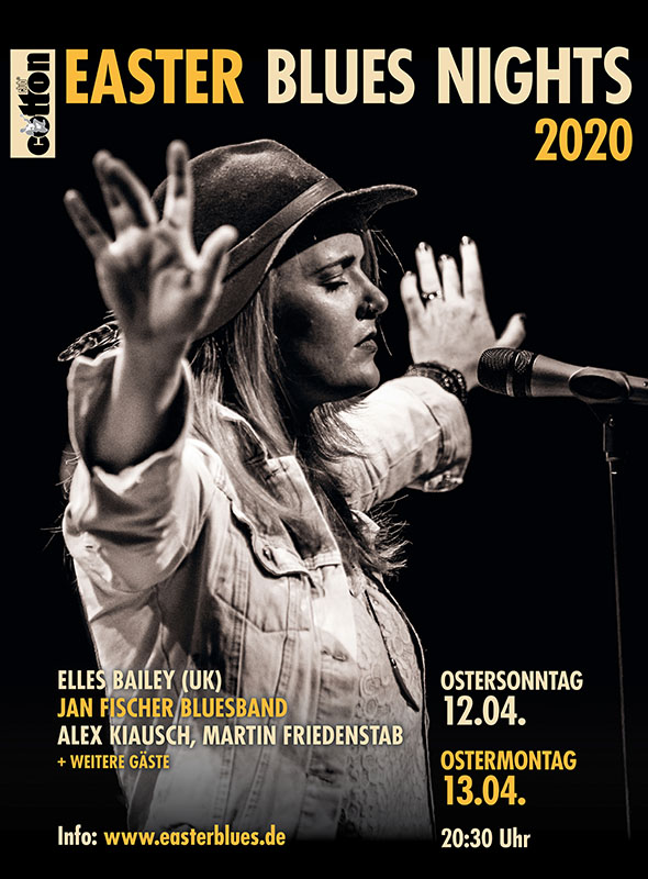Abbildung des Plakates zu den EASTER BLUES NIGHTS 2020